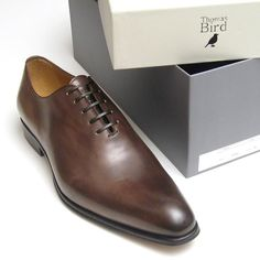 Benson Wholecut Oxford Shoe in Hand Finished Brown