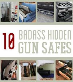 Gun safes come in all shapes and sizes. But the best, most badass gun safes are the ones that can be completely hidden while providing absolute gun safety. This list takes hidden gun storage to the… Hidden Gun Safe, Hidden Gun Storage, Weapon Storage, Secret Storage, Survival Life, Survival Prepping, Survival Gear, Survival Quotes, Emergency Preparedness