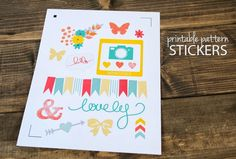Silhouette tutorial - printable pattern stickers perfect for scrapbooking and planners