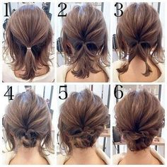 Quick and Easy Step by Step Hair Tutorials for Long, Medium,Short Hair - Short hair Tutorial per capelli passo-passo rapidi e facili per capelli lunghi, medi, corti Easy Updos For Medium Hair, Medium Short Hair, Short Hair Cuts, Medium Hair Styles, Short Hair Updo Easy, Short Hair Updo Tutorial, Simple Updo, Pixie Cuts, Mens Hairstyles Thin Hair