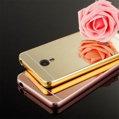 Aluminum Metal Bumper Mirror PC Back Case Skin Cover For Meizu M2 Note/MX5 #UnbrandedGeneric