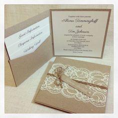 Invitation de mariage rustique Invitation par StunningStationery