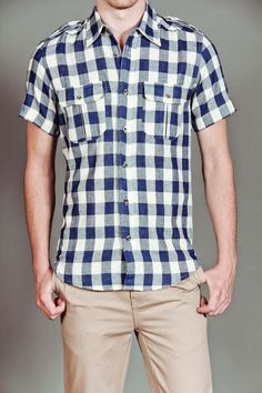 Buffalo Check Military Shirt