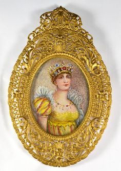 French Miniature Hand Painted Portrait of Empress Josephine