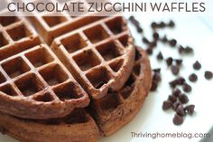 Chocolate Waffle recipe with zucchini. Healthy, freezer friendly breakfast that your kids will actually eat! Love the sneaky veggies too! Freezer Cooking, Freezer Meals, Frugal Meals, Kids Meals, Make Ahead Breakfast, Breakfast Recipes, Breakfast Ideas, Breakfast Time, Zucchini Waffles