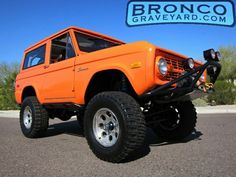 Something about an orange bronco just feels right.