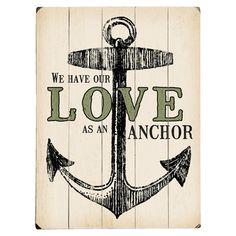 Love is an Anchor Wall Art