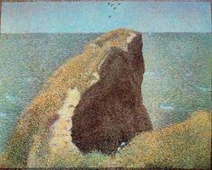 Le Bec du hoc, Grandcamp  Seurat - (George Pierre Seurat)