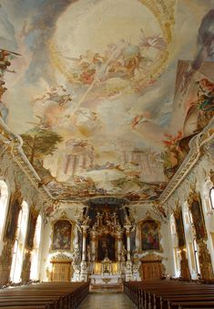 Santa Maria Victoria, Ingolstadt - Asam Brothers Places In Europe, Places To See, Santa Maria, Fresco, Cathedral Architecture, Victoria, Destinations, Destination Voyage, Abandoned Buildings