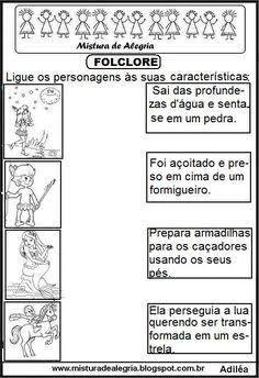 projeto sobre folclore brasileiro para educação infantil - Pesquisa Google