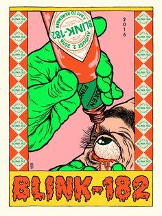 broken fingaz blink blink-182 gig poster graffiti street art israel bfc unga deso tant