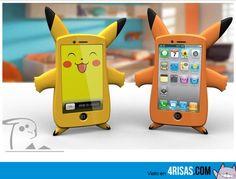 funda de pikachu para iphone, callate y coge mi dinero