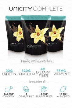 Unicity Complete meal replacement protein powder! A full meal in one drink - the perfect way to start your day. | #Unicity