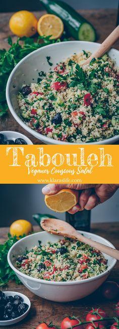 Tabouleh (Couscous Salat) - Klara`s Life potato al horno asadas fritas recetas diet diet plan diet recipes recipes Salad Recipes For Dinner, Chicken Salad Recipes, Healthy Salad Recipes, Healthy Meals, Easy Meals, Fit Meals, Couscous Salad Recipes, Easy Recipes, Creamy Cucumber Salad