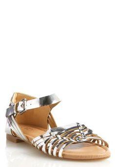 Cato Fashions Metallic Huarache Sandals #CatoFashions
