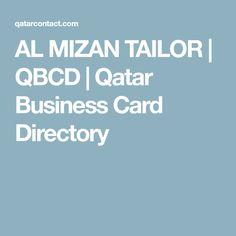 AL MIZAN TAILOR   QBCD   Qatar Business Card Directory