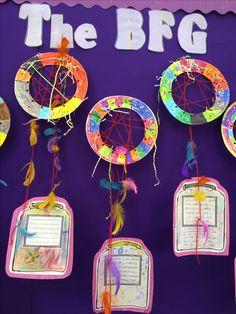 Class Displays, School Displays, Classroom Displays, Bfg Activities, Roald Dahl Activities, The Bfg Book, Bfg Roald Dahl, World Book Day Ideas, Dream Jar