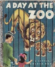 "A Day at the Zoo    ""A Day at the Zoo,"" by Marion Conger, illustrated by Tibor Gergely, Little Golden Books, Simon & Schuster, NY 1950.    A father takes his daughter to a city zoo."