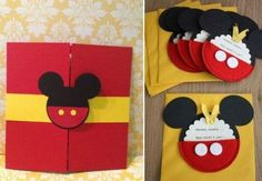 enfeites do Mickey para aniversário convites e lembrancinhas