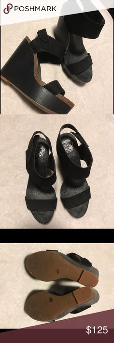 Selling this Vince Camuto Black Wedges on Poshmark! My username is:  akilbride. #
