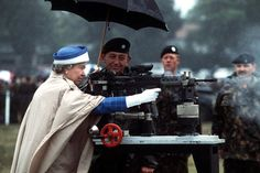 This is surely the best photo of the Queen ever taken. It's from 1993 and it features Her Majesty firing a gun at the National Shooting Centre at Bisley, Surrey.  This photo reminds us that behind it all she's a tough woman – a hunter, a horse racer and, apparently, good with a gun.