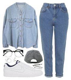 """""""Double d"""" by sulk-y ❤ liked on Polyvore featuring moda, NIKE, Topshop, BOBBY y PhunkeeTree"""