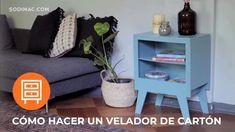 En nuestros hogares a veces acumulamos ciertos materiales en buen estado que podemos reciclar para darles nuevos usos. En esta ocasión, te invitamos a reutilizar cartón para hacer un velador muy útil para cualquier lugar de nuestra casa, especialmente para las habitaciones. #SodimacHomecenter #HUM #Proyecto #HágaloUstedMismo Sofa, Couch, Furniture, Home Decor, Recycled Decor, Pedestal Tables, Hearths, Upcycle, Settee