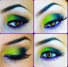 Electric Blue and Green Eye Shadow Tutorial