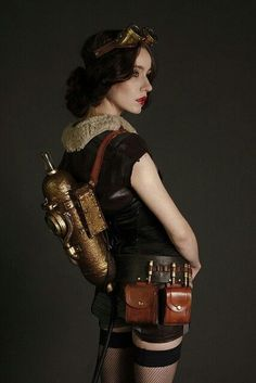 This feels like a steampunk version of a sexy Snow White.