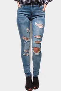 Jeans destroyed distressed skinny – Embellished Cowgirl Boutique