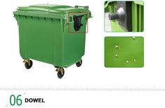 1100 liter green curbside Wheeled Dustbin for sale/waste bin/trash can Outdoor Trash Cans, Garbage Containers, Plastic Pallets, Waste Container, Welding Machine, Garbage Can, Trash Bins, Rubber Material, Plastic Waste