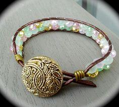 Dizzy Bees bracelets, found on facebook! Leather wrap bracelet.