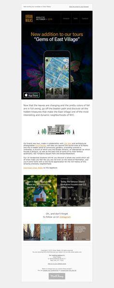 urban-walks-newsletter Html Email Design, East Village, Hidden Treasures, Betta, Paths, The Neighbourhood, Walking, Tours, Urban