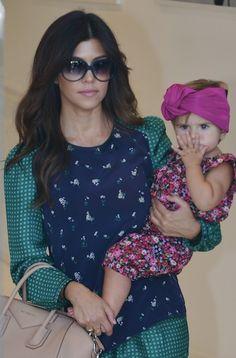 Kourtney Kardashian Penelope Disick baby turban style