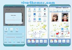 Cinnamoroll Theme For Android Vivo Phones Android Theme, Settings App, My Themes, Phones, Smartphone, Product Launch, Pastel, Cake, Telephone