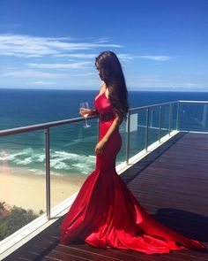 Red Prom Dress,Mermaid Prom Dress,Fashion Prom Dress,Sexy Party