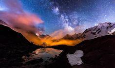 Milky way on Ecrins