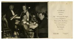 Albert Einstein and his wife at a dinner at the Hotel Ambassador, Los Angeles 1931