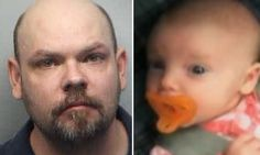 Gregory Odell Barnett, of Johns Creek, Atlanta, allegedly assaulted his daughter Rylee on January 12 after beating the baby's mother Courtney Johnson - which she said he often did.