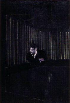 Francis Bacon, Man in blue I, 1954