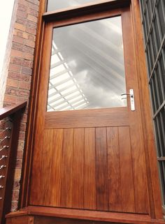 On Site Timber Pivot Entry Door Via Allkind Before And