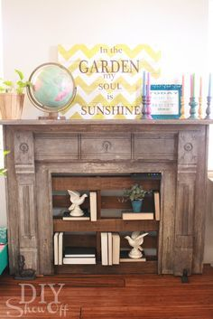 Image result for repurposed fireplace mantel boys room