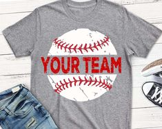 Baseball SVG, Distressed svg, Baseball shirt, grunge svg, png, eps, Baseball Mom, Your team, Download, transfer, clip art, vector, cut file by ShortsandLemons on Etsy