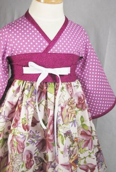 Little Fairy Girls Dress  Kimono by pinkmouse on Etsy, $44.00