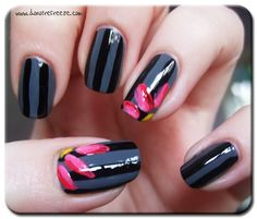 Simple Do Yourself Nail Designs | Easy Peasy Nail Art: Flowers on Stripes » Do Not Refreeze - UK Beauty ...