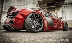 The Liberty Walk Audi R8 bodykit #AudiR8 #Libertywalk