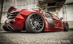 The Liberty Walk Audi R8 bodykit #AudiR8 #Libertywalk