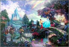 """""""Cinderella Wishes Upon A Dream""""  The fourth painting in the """"Timeless Disney Dreams"""" series."""