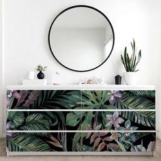 123kea sticker Botanical for Ikea Malm cabinet #ikeahack
