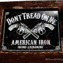 Wood Framed Tin Gun Signs
